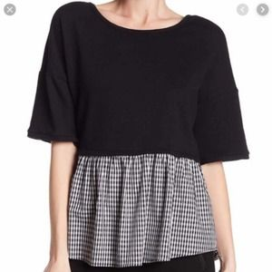 DR2 French Terry Twofer gingham print Nordstrom